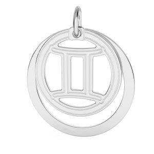 Přívěsek - Blíženci - Znamení zvěrokruhu*stříbro 925*LKM-2585 - 0,50 ver.2 18x22 mm