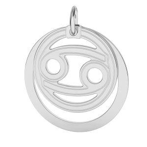 Přívěsek - Rak - Znamení zvěrokruhu*stříbro 925*LKM-2589 - 0,50 ver.2 18x22 mm
