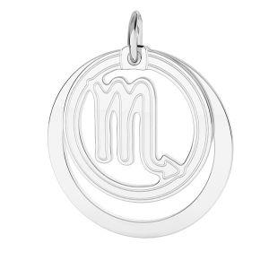 Přívěsek - Štír - Znamení zvěrokruhu*stříbro 925*LKM-2592 - 0,50 ver.2 18x22 mm