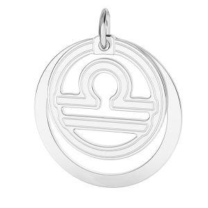Přívěsek - Váhy - Znamení zvěrokruhu*stříbro 925*LKM-2594 - 0,50 ver.2 18x22 mm