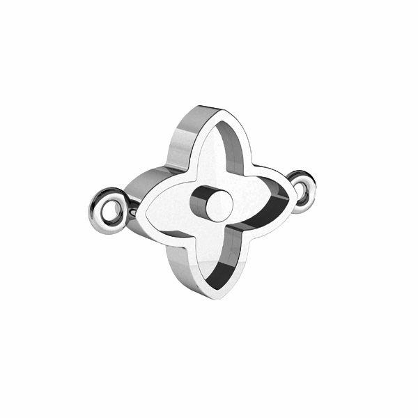 Kvet přívěsek na pryskyřici, stříbrný 925, CON 2 ODL-00779 10,5x14,1 mm