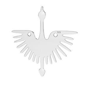 Přívěsek - Holubice - Letící pták - Spojovací element  *stříbro 925, LKM-2824 - 0,50 25x25 mm