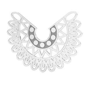 Přívěsek - Holubice - Letící pták - Spojovací element  *stříbro 925, LKM-2837 - 0,50 19x25 mm