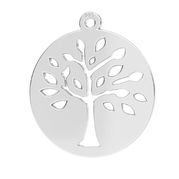 Přívěsek - Strom - Ažurový plíšek - Spojovací element *stříbro 925, LKM-2626 - 0,50 16x17,5 mm