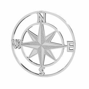 Kompas větrná růžice přívěsek stříbrný, LKM-2762 - 0,50 25x25 mm