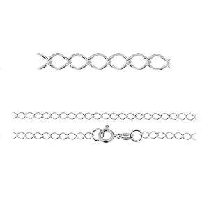 Řetízek Rombo*stříbro 925*R1 50 (40 cm)