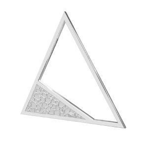 Trojúhelník přívěšek stříbrný, LKM-2746 - 0,50 17,4x20 mm