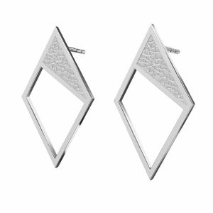 Kosočtverec náušnice*stříbro 925, KLS LKM-2751 - 0,50 11x19,2 mm