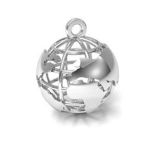 Měsíc přívěšek stříbrný 925, CON 1 E-PENDANT 660 18x22 mm