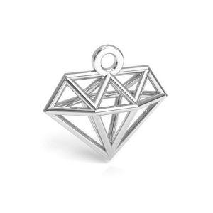 Origami diamant přívěšek stříbrný 925, CON 1 E-PENDANT 653 11,9x12,6 mm