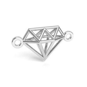 Origami diamant přívěšek stříbrný 925, CON 1 E-PENDANT 654 9,55x17,6 mm