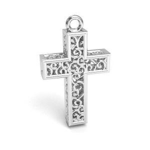 Kríž přívěšek stříbrný 925,CON 1 E-PENDANT 657 11,8x19,8 mm