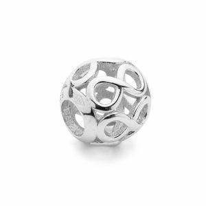 Kulaté korálky*stříbro 925*BDS-00010 9,5x10,5 mm