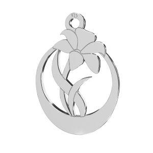 Květ  přívěsek, stříbrno 925, LKM-2208 - 0,50 14,1x20 mm