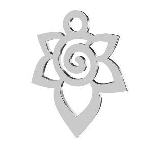 Květ  přívěsek, stříbrno 925, LKM-2217 - 0,50 12,6x15,6 mm
