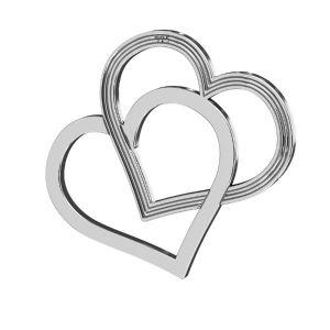 Srdce přívěšek ,stříbrný 925, LK-2190 - 05 18x21 mm
