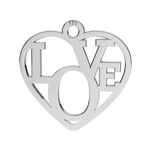 Srdce přívěšek ,stříbrný 925, LK-2677 - 05 15,5x16 mm