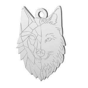Přívěsek vlk*stříbro 925, LKM-2223 - 0,50 14x20 mm
