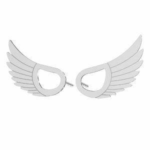 Křídla náušnice*stříbrný 925*KLS LKM-2961 - 0,50 8,8x15 mm