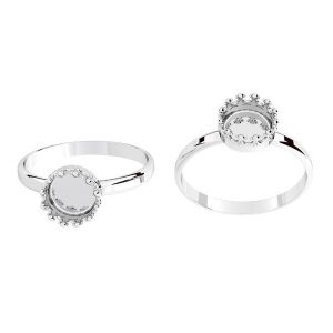 Kulaté prsten z pryskyřice, stříbrný 925, ODL-00681 RING (R-11)