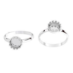 Kulaté prsten z pryskyřice, stříbrný 925, ODL-00681 RING (R-15)