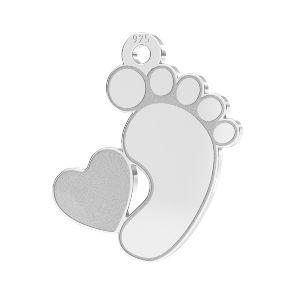 Dětské nohy přívěšek*stříbrný 925*LKM-2644 - 0,50 13x14,7 mm (2808 mm 6)
