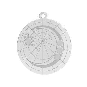 Měsíc přívěšek*stříbrný 925*LKM-2625- 0,50 22x23,5 mm