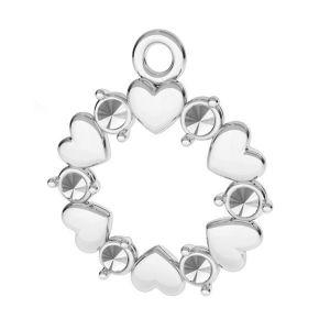 Srdce přívěšek stříbrný 925, ODL-00812 13,5x15,5 mm