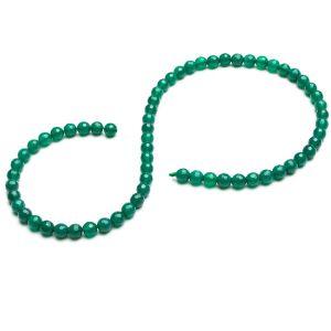 Zelený onyx kulatý kámen korálky 6 MM GAVBARI, polodrahokam