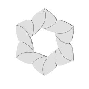 Kvet přívěsek, LKM-2788 - 0,50 14,7x17 mm