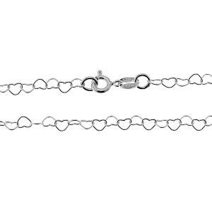 Řetízek srdce*stříbro 925*SRC 045 40 cm