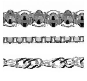 Rhodium plated chain